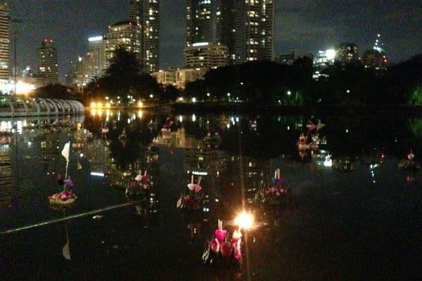Loy Karthong med lys TBEX Asia 2015