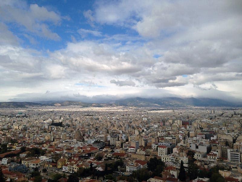 Udsigten over Athen fra Akropolis.