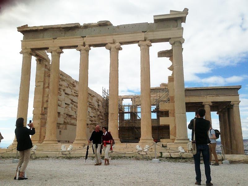 Kærlighed på Akropolis i Athen.