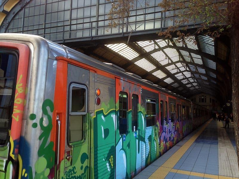 Metroen til Piræus i Athen.