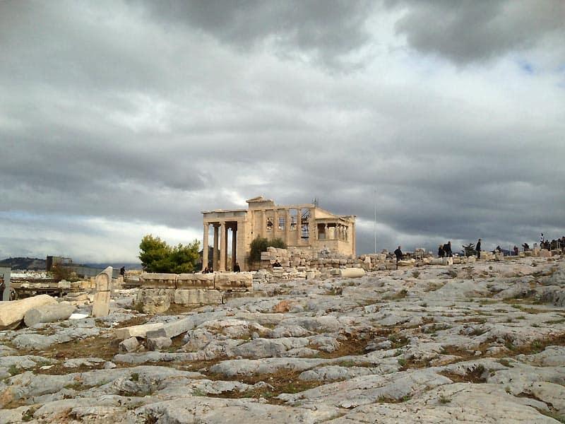 Mindre tempel på Akropolis i Athen.