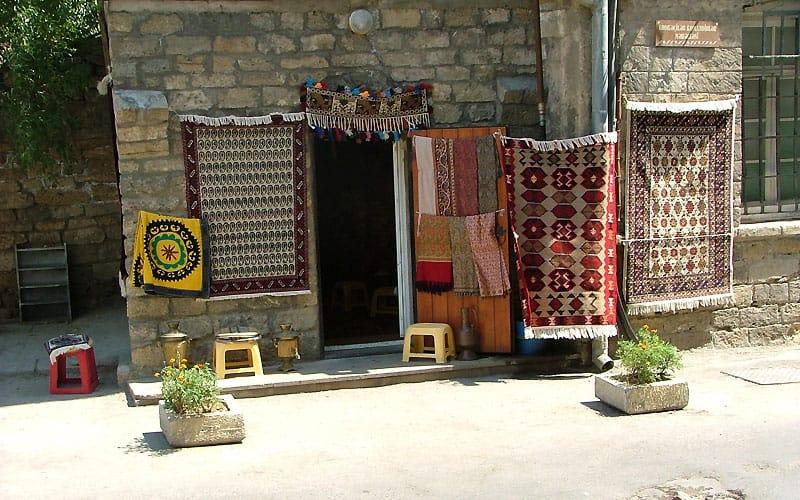 Tæppehandel i Baku.