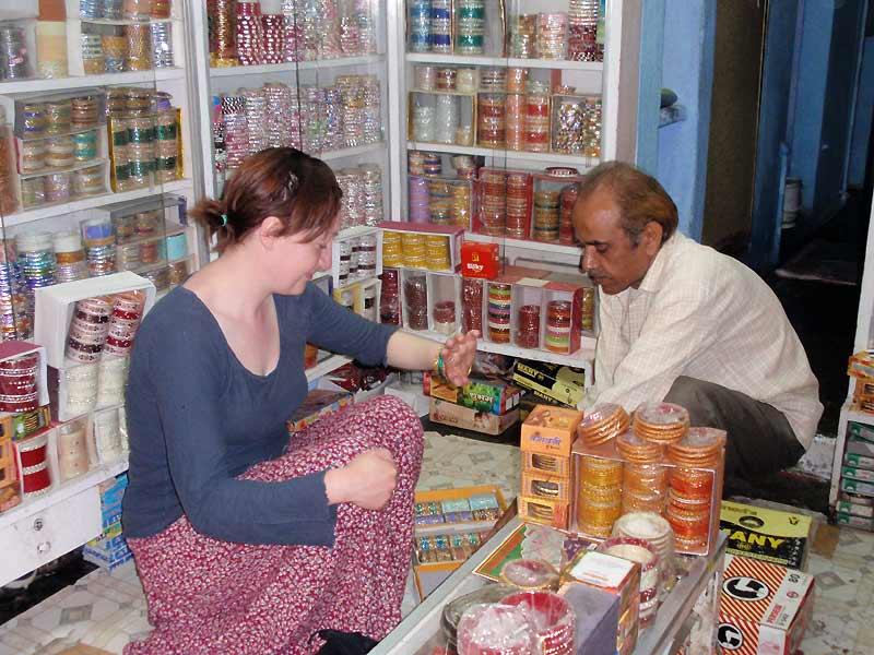 Butik med bangles i Udaipur