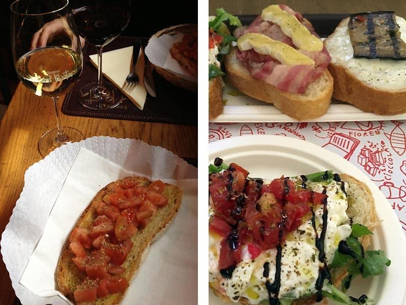 Crostini er hyggelig mad i Firenze