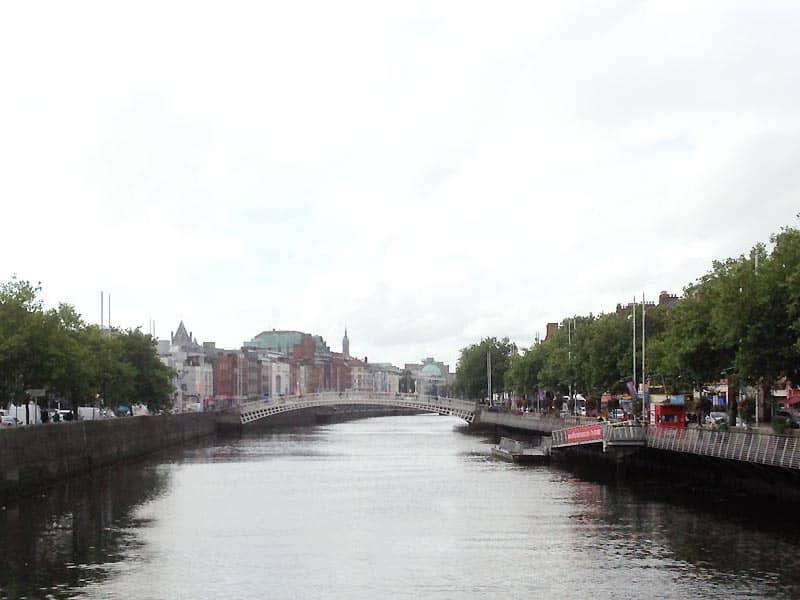 Floden Liffey i Dublin
