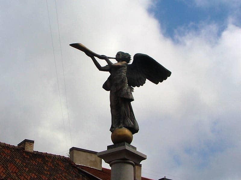 Englen i Uzupis i Vilnius