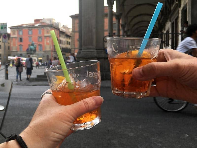 Spritz på Un Caffé - caféer i Firenze
