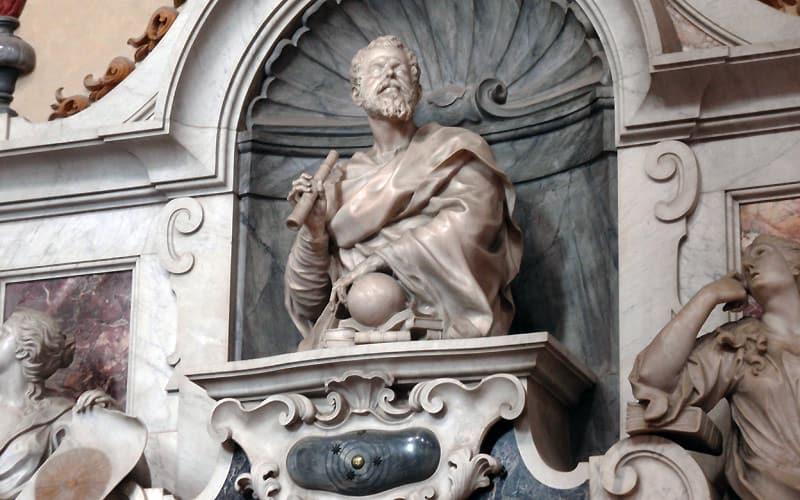 Galileo Galileis gravmonument i Santa Croce i Firenze