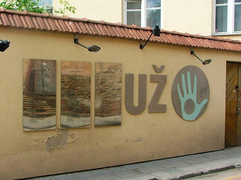 Uzupis' grundlov i Vilnius
