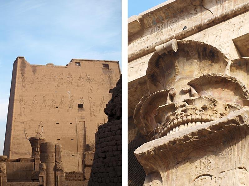 Horus-templet i Edfu Egypten