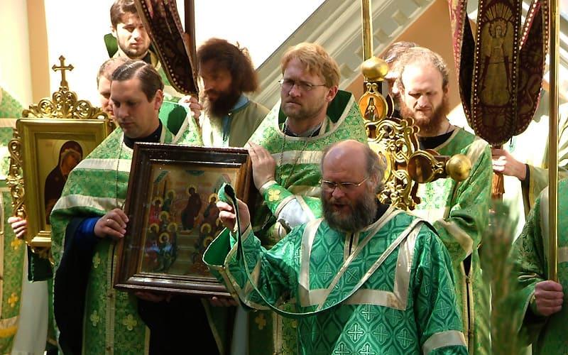 Religiøs procession i Vilnuis