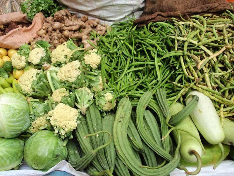 Friske grøntsager i Udaipur