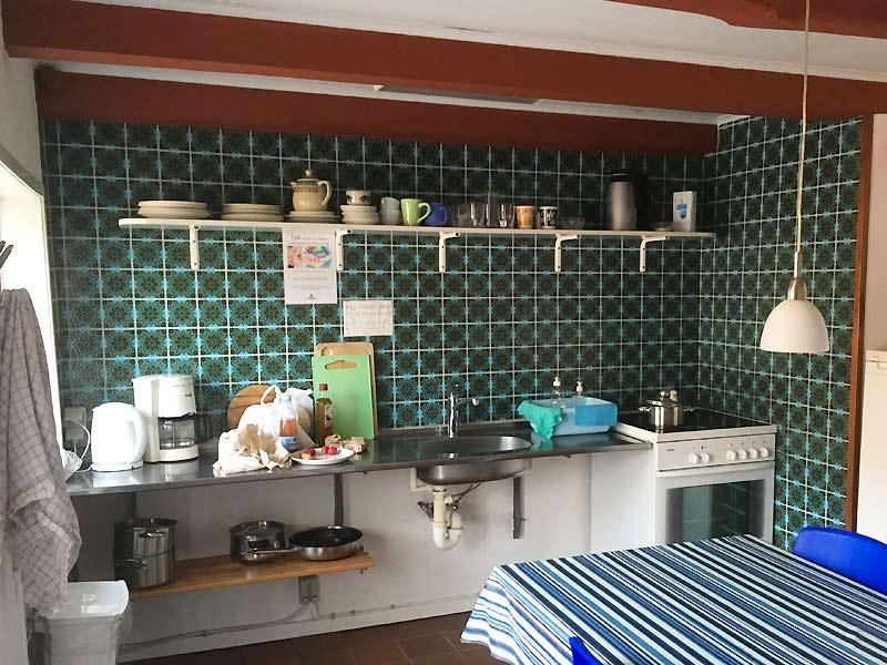 Rømø Vandrerhjems køkken, hvor man kan lave god lokal mad fra Rømø