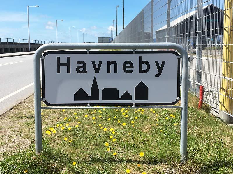 Byskilt Havneby på Rømø