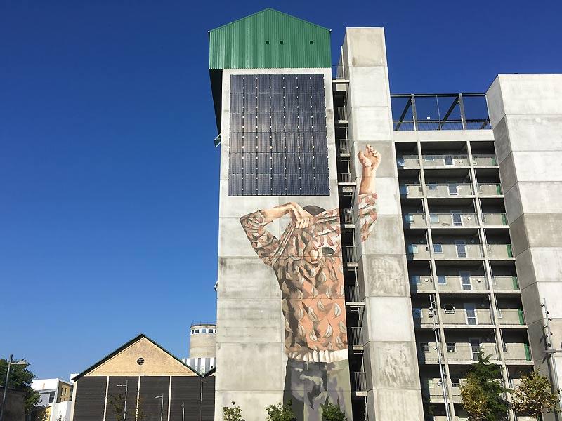 Street art og solceller på Eternitten i Aalborg