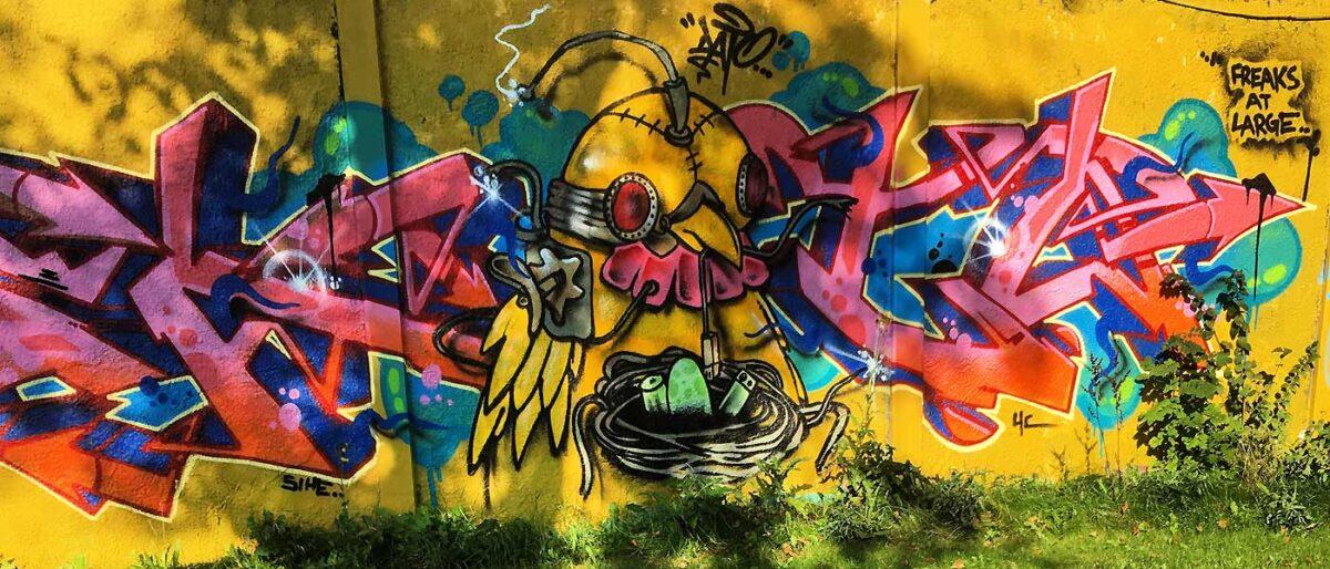 Street art i Aalborg Karolinelund