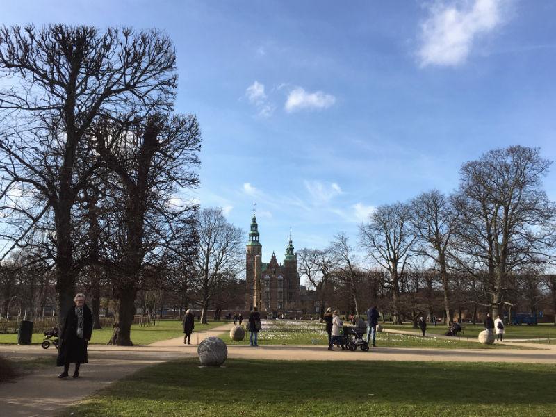 Rosenborg Slot og Kongens Have i på min tur i København
