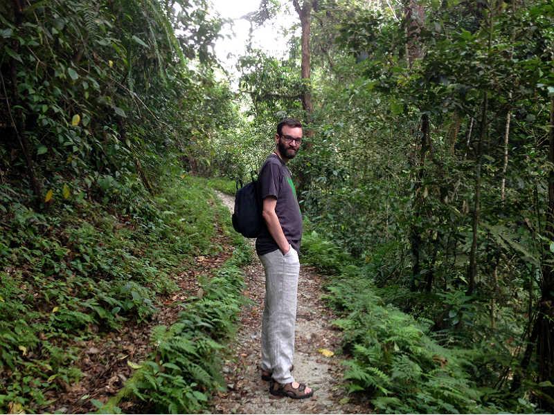 Kenneth i skoven ved Tanah Rata i Cameron Highlands i Malaysia