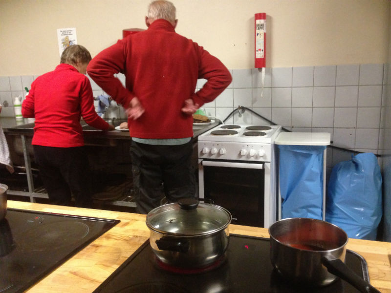 Køkkenhygge på Sønderborg Vandrerhjem