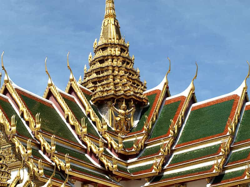 Gyldne spir i Grand Palace
