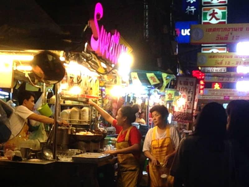 Aftensmad - lækker street food i Bangkok