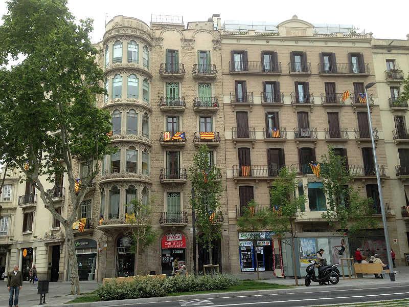 De catalanske flag vejrer i Barcelona
