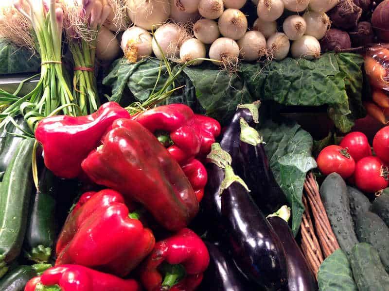 Grøntsager på marked i Barcelona