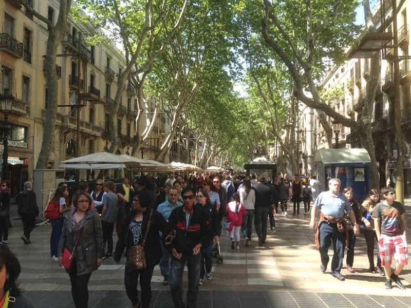 Ramblaen - Barcelonas lange gågade-allé