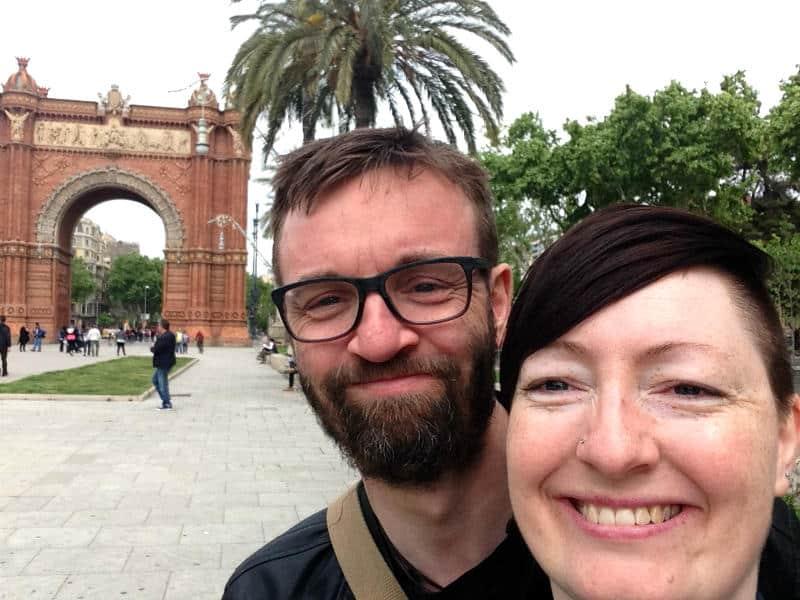 Kenneth Karl Nielsen og Maria Erica Jensen i Barcelona