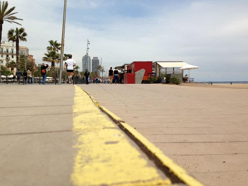 Passeig Marítim de la Barceloneta - Barcelonas strandpromenade