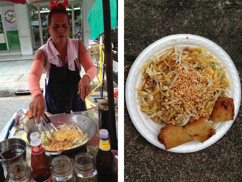 Pad Thai lækker street food i Bangkok