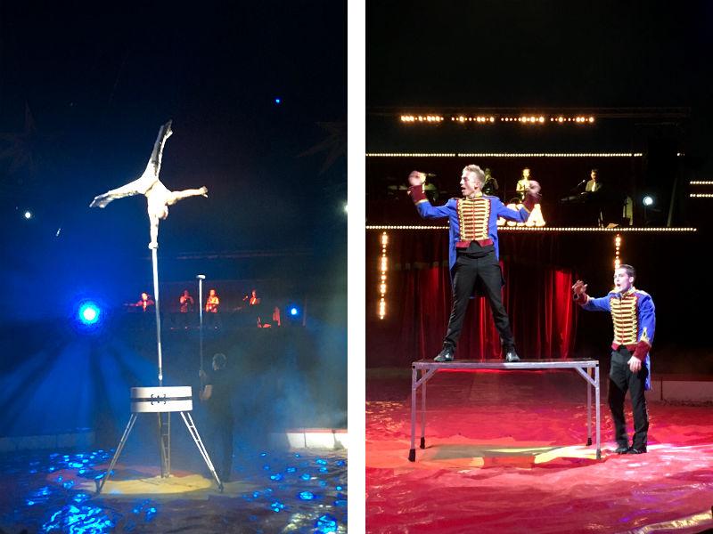 Encho og Oliver og Patrick Berdino i Cirkus Arena