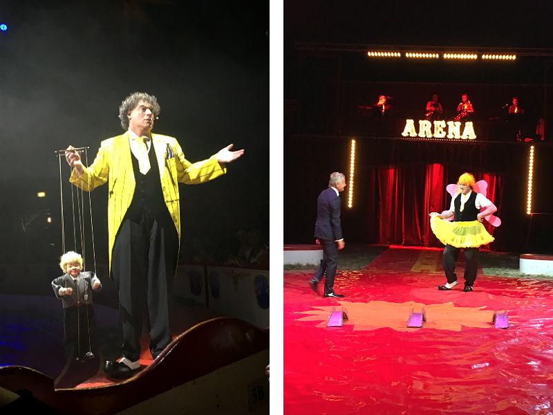 Klovnen Jimmy Folco i Cirkus Arena