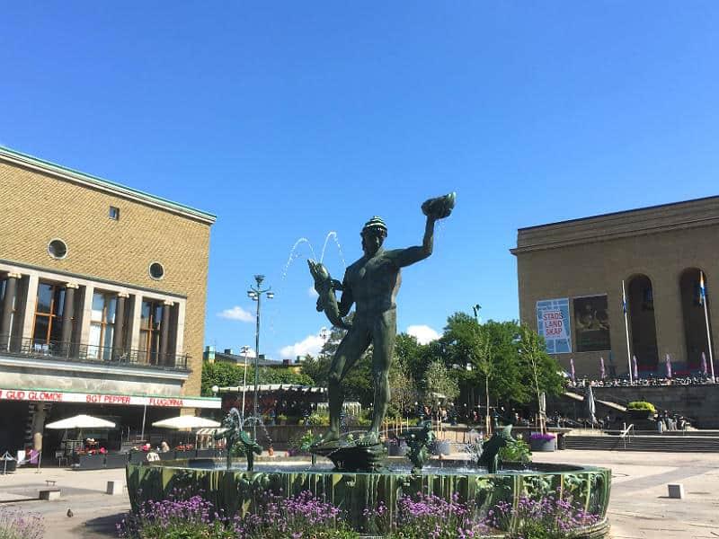 Oplev Götaplatsen, når du er på weekendtur i Gøteborg