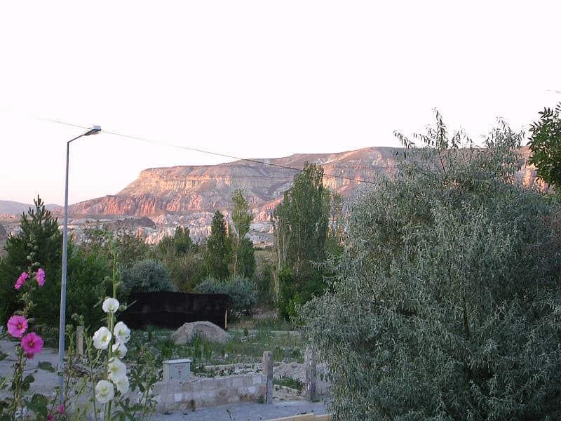 Dejligt aftenlys i Göreme i Kappadokien