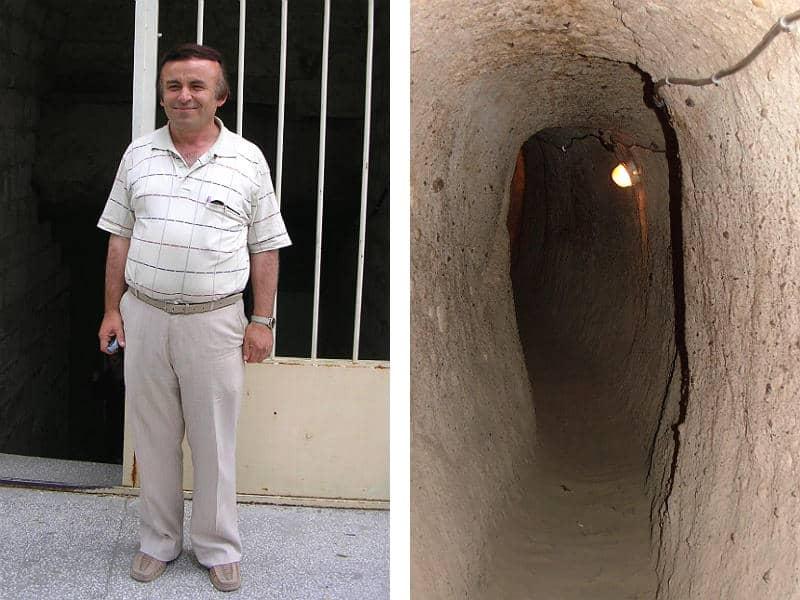 Guiden i Kaymakli Underground City - Globetrotters.dk