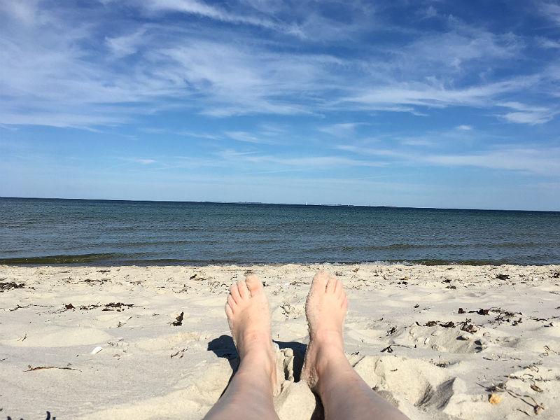 Maria Erica Jensen på stranden - Live from Denmark