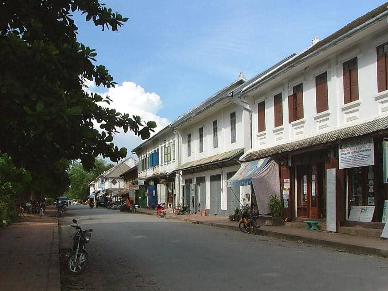 Kolonihuse i Luang Prabang i Laos - Globetrotters.dk