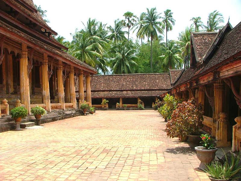 Buddhistisk tempel i Luang Prabang i Laos