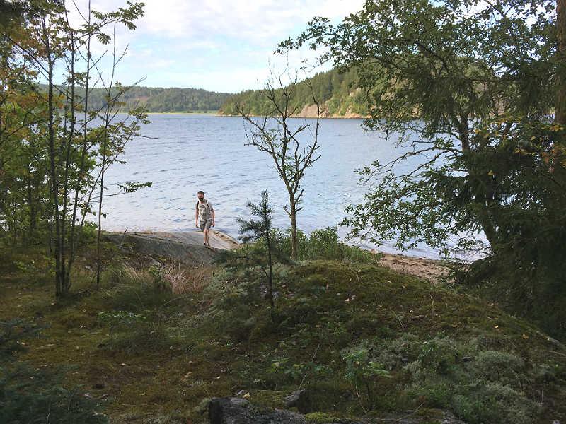 Kenneth Karl Nielsen på vandretur ved Vann Spa