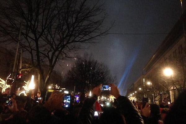 Nytårsaften i Berlin ved Brandenburger Tor