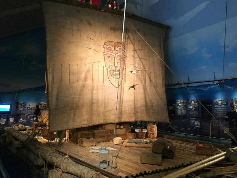 Kon-Tiki tømmerflåden på Kon Tiki Museet i Oslo - Globetrotters.dk