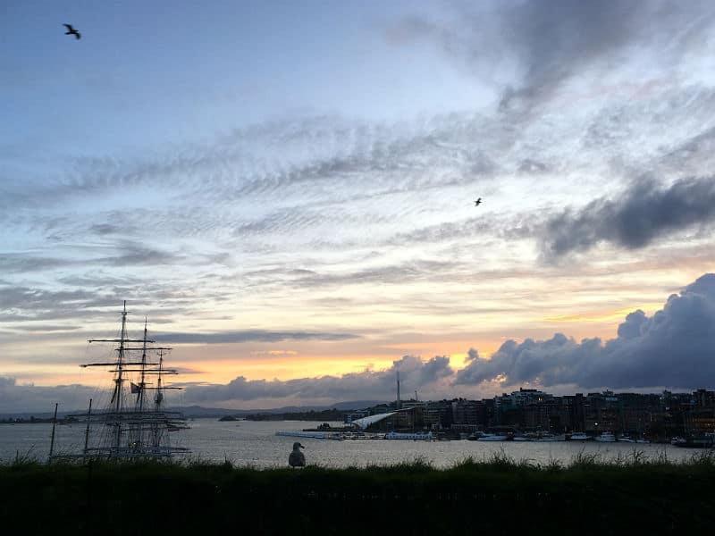 Du kan se den smukke solnedgang på din rejse til Oslo - Globetrotters.dk