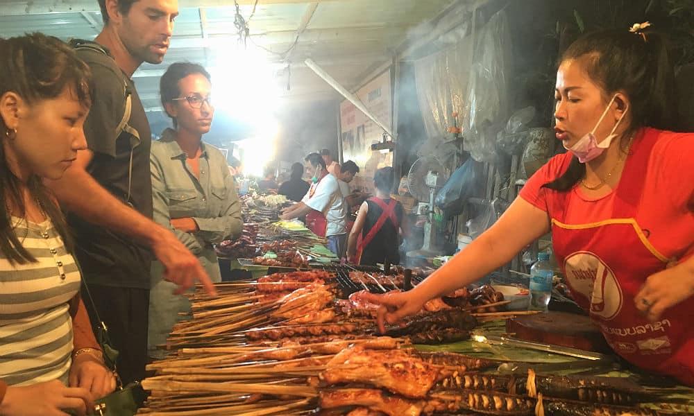Den lækre mad og street food i Luang Prabang