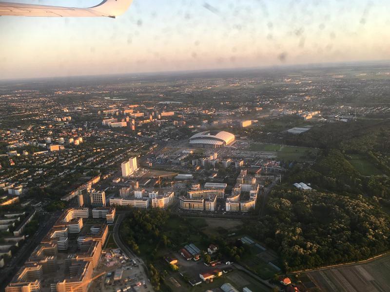 Med fly over Poznan
