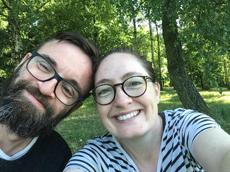 Kenneth Karl Nielsen og Maria Erica Jensen i Cytadela parken