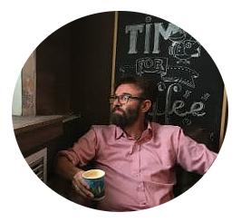 Kenneth Karl Nielsen drikker kaffe i Moskva