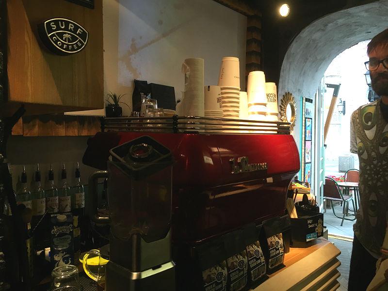 Kaffebaren Surf Coffee i Moskva
