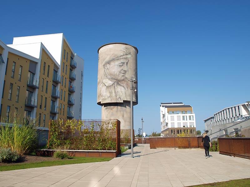 Street art ved Eternitten i Aalborg