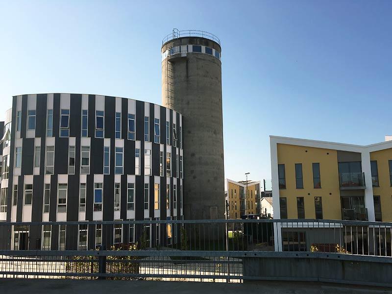 Silo og beton ved Eternitten i Aalborg